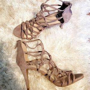 Sexy Fergalicious Tan Strappy Sandals!